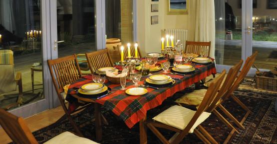 La tavola nel soggiorno