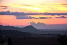 Il tramonto dal Casale